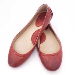 "Frye ""Cassie"" Ballet Flat in Burnt Red - RARE!"